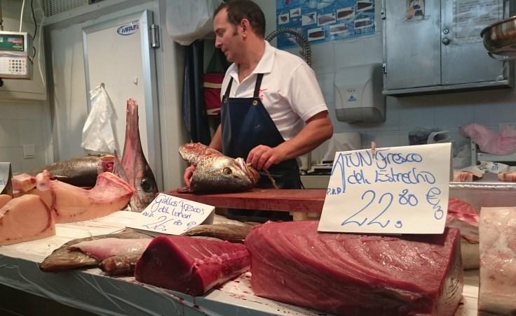 Fishmonger at Mercado Centrale