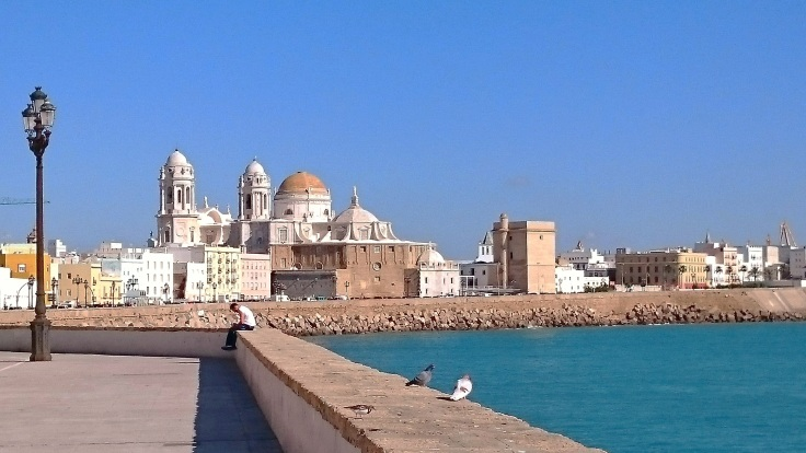 View of back of Cádiz Cathedral