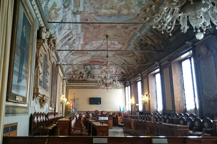 Inside Palazzo Comunale