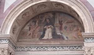 Detail of exterior of Santa Maria Novella
